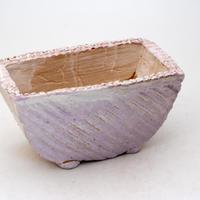 陶器製 多肉植物の欲しがる植木鉢 HMc-7201パープル