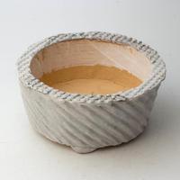 3/24〜4/30 緊急割引10%陶器製 多肉植物の欲しがる植木鉢 AQSSc -9701ブルーグリーン