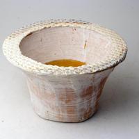 陶器製(2.5号ポット相当)多肉植物の欲しがる植木鉢 IBLcd-2858イエロー