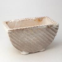 陶器製 多肉植物の欲しがる植木鉢 HMc- 1780ブラウン