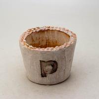 陶器製(2号ポット相当)多肉植物の欲しがる植木鉢 PSc-8656ピンク