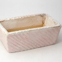 陶器製 多肉植物の欲しがる植木鉢 AES(Ⅰ)c- 1787ピンク
