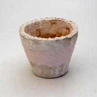 陶器製(2.5号ポット相当)多肉植物の欲しがる植木鉢 SMSc-9394 ピンク