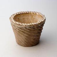 陶器製(2.5号ポット相当)多肉植物の欲しがる植木鉢 SMSc-4230キャメル
