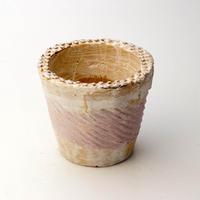 陶器製(2.5号ポット相当)多肉植物の欲しがる植木鉢 NSSc-4057パープル