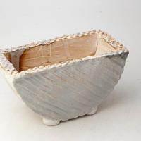 陶器製 多肉植物の欲しがる植木鉢 HMc- 1782イエロー