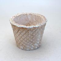 陶器製(2.5号ポット相当)多肉植物の欲しがる植木鉢 SMSc-8688ブラウン