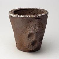 3/24〜4/30 緊急割引10%陶器製(2号ポット相当) AAMcスカル鉢-340ミカゲ