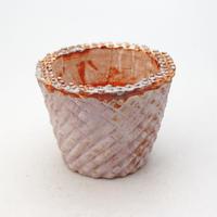 陶器製(2.5号ポット相当)多肉植物の欲しがる植木鉢 SMSc- 9170パープル