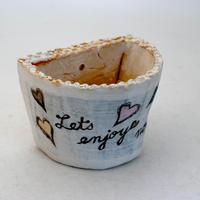 陶器製 多肉植物の欲しがる植木鉢 HPil-8844