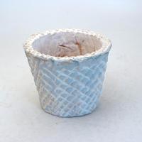 陶器製(2.5号ポット相当)多肉植物の欲しがる植木鉢 SMSc-8684ブルー