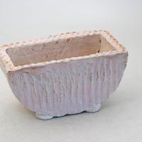 陶器製 多肉植物の欲しがる植木鉢 HMc-8462ピンク