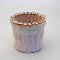 陶器製(2号ポット相当)多肉植物の欲しがる植木鉢 SSSc-8464ピンク
