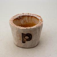 陶器製(2号ポット相当)多肉植物の欲しがる植木鉢 PSc-8659ピンク