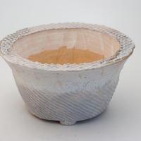 陶器製 多肉植物の欲しがる植木鉢 OZcd-9717ブルー
