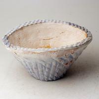 陶器製 多肉植物の欲しがる植木鉢 CCc 曲-3100ブルー