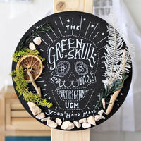 "URBAN GREEN MAKERS GREEN ART ""GREEN SKULL"""