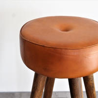 SF LEATHER HIGH STOOL
