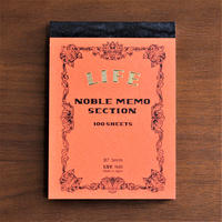 NOBLE MEMO B7 series -RED 方眼-
