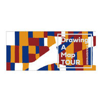 Drawing A Map TOUR Face Towel