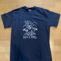 """""""C""""ストーリーかかしTシャツ(黒) Lサイズ"""