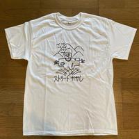 """""""C""""ストーリーかかしTシャツ(白) Lサイズ"""
