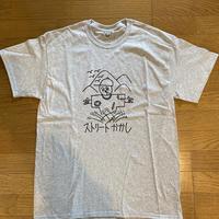 """""""C""""ストーリーかかしTシャツ(グレー) Lサイズ"""