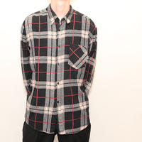 70s Vintage Flannel Check L/S Shirt