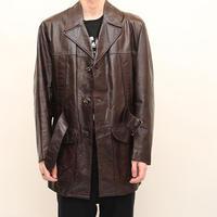70s Vintage Leather Coat