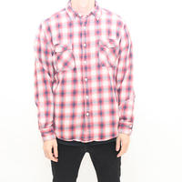 Ombre Checker Flannel Shirt