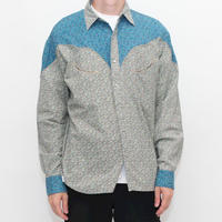 Flower Pattern Western Shirt