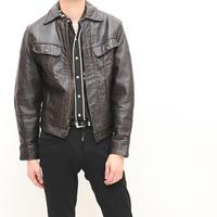 Vintage Leather Trucker Jacket