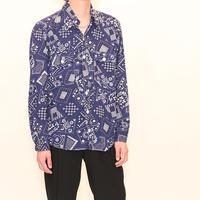 Vintage Bandana Pattern L/S Shirt