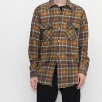 70's Vintage Flannel Check L/S Shirt