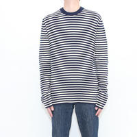 Border Cotton Kint Sweater
