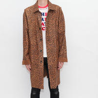 Reversible Leopard Suede Leather Coat