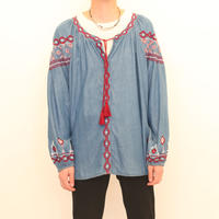 Embroidery Tunic L/S Shirt