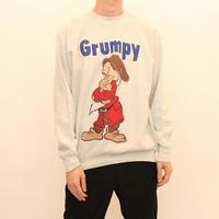 """90's The Seven Dwarfs """"Grumpy"""" Sweat Shirt"""