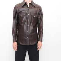 Leather Western Shirt
