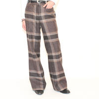 L.L.BEAN Wool Check Slacks