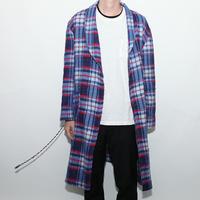 Vintage Flannel Gown Jacket