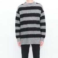Border Mohair Knit Sweater
