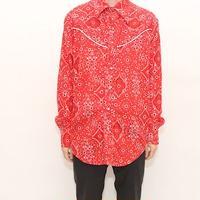 Bandanna Pattern Western Shirt