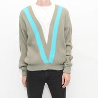 Vintage V Neck Sweater