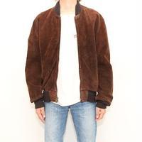 Schott Suede Leather Bomber Jacket