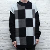 ブロックチェック ニット Design Sweater