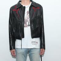Rose&Fringe Leather Jacket