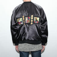 Black Satin Embroidery Jacket