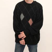 Cashmere Argyle Pattern Sweater