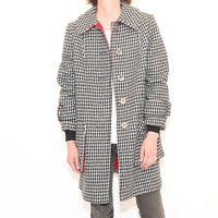 Hound tooth Wool Coat